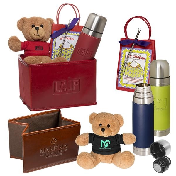 Tuscany Thermal Bottle, Bear and Hot Cocoa Set