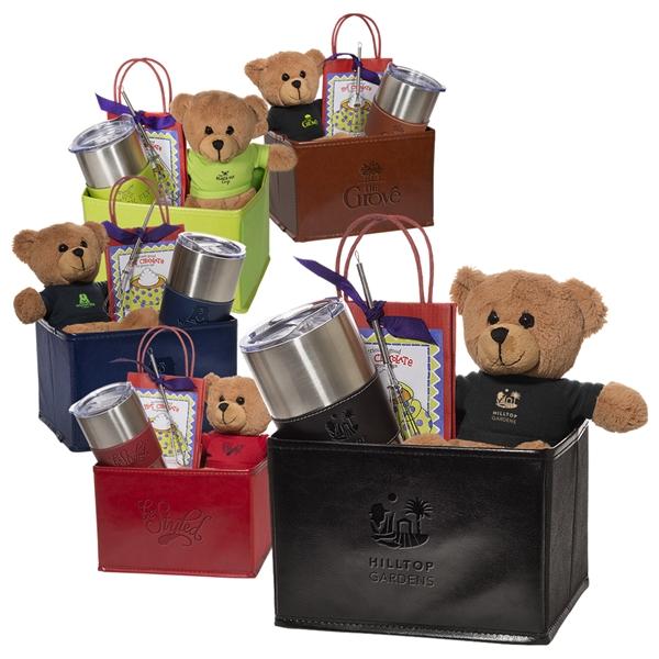 Tuscany™Vacuum Tumbler w/Teddy Bear and Hot Cocoa Set