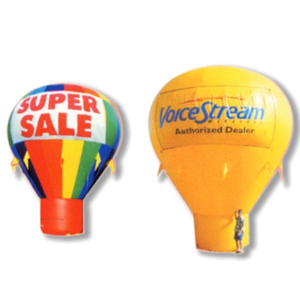 Balloon - Hot air balloon shape w/tether line. Balloon Manufacturer.