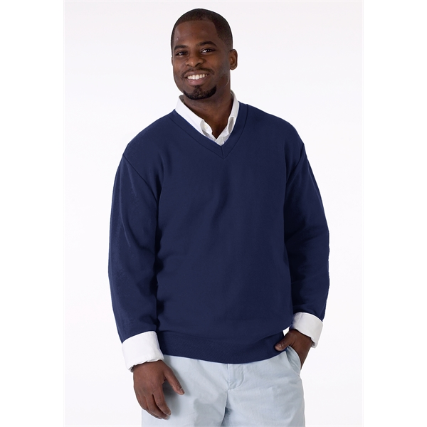 COTTON, V-NECK PULLOVER, MAN / UNISEX: XS-5XL, MADE IN USA