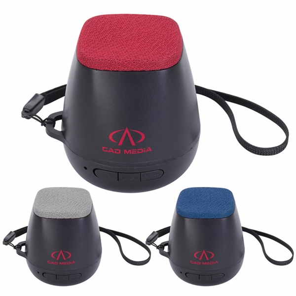 Bluetooth® Speaker with Fabric Top and Leash