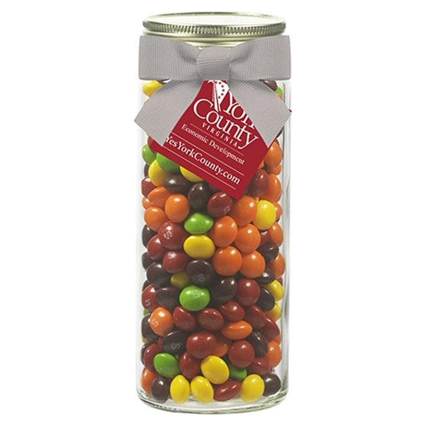 Contemporary Mason Jar w/Grosgrain Bow - Skittles®