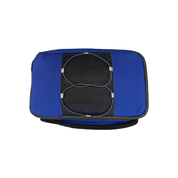 Encore Music Cooler - 24-can polyester cooler with speakers and audio jack.