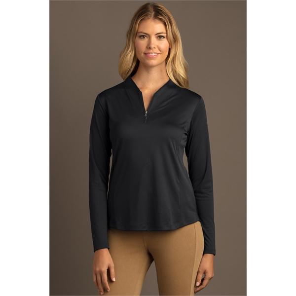 Women's Greg Norman Play Dry® Tulip Neck  1/4-Zip