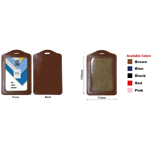 VERTICAL FAUX LEATHER HOLDERS