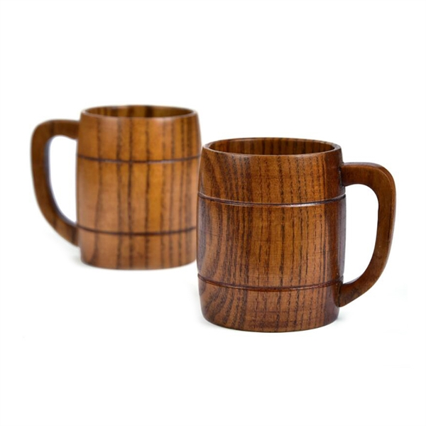 10 oz Barrel Shape Jujube Wood Mug