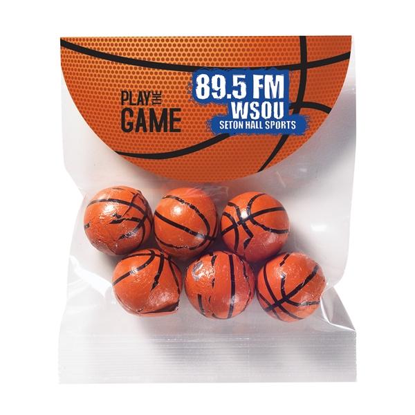 Alley-Oop Header Bag - 6 Chocolate Basketballs