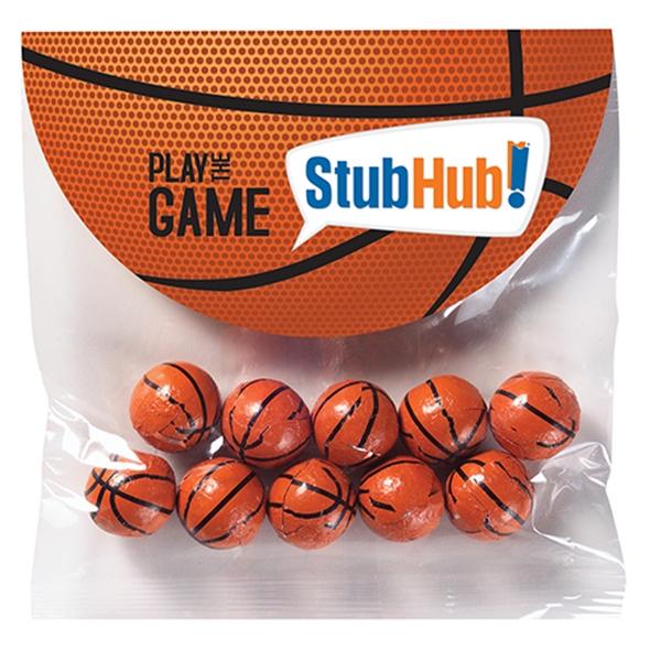 Alley-Oop Header Bag - 10 Chocolate Basketballs