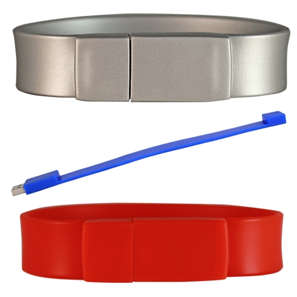 Silicone Wristband Thick Flash Drive