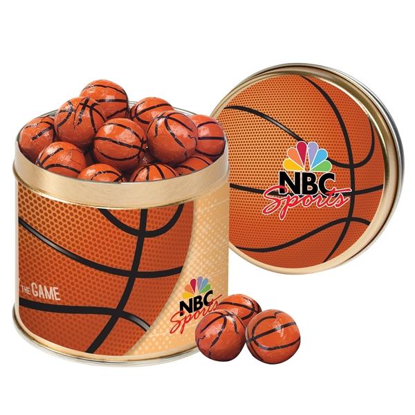 Half Quart Tin - Chocolate Basketballs