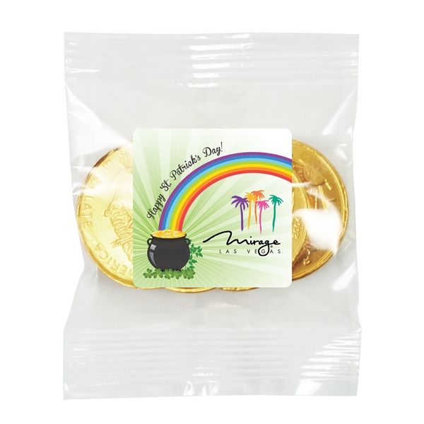 Irish Blessings Bag - 4 Chocolate Coins