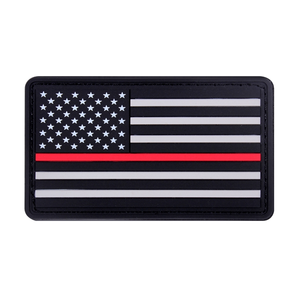 Thin Red Line PVC U.S. Flag Patch