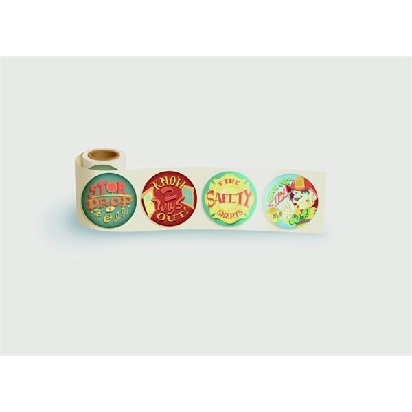 Roll - Stop, Drop, & Roll - Roll of 200 Fun Stickers