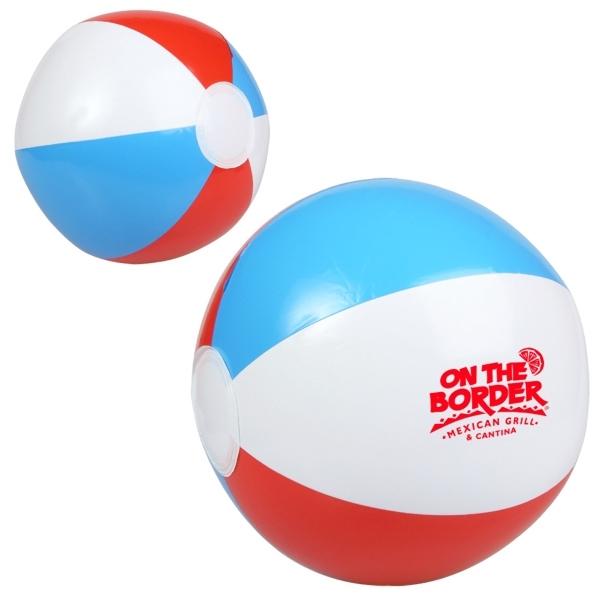 "10"" Red, White and Blue Beach Ball"