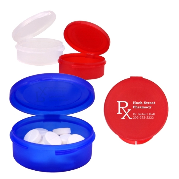 Single Compartment Plastic Pill Case