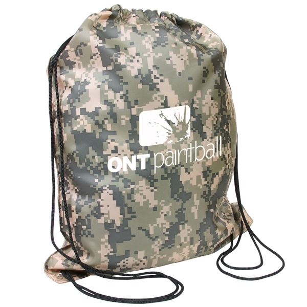 Digital Camo Drawstring Backpack