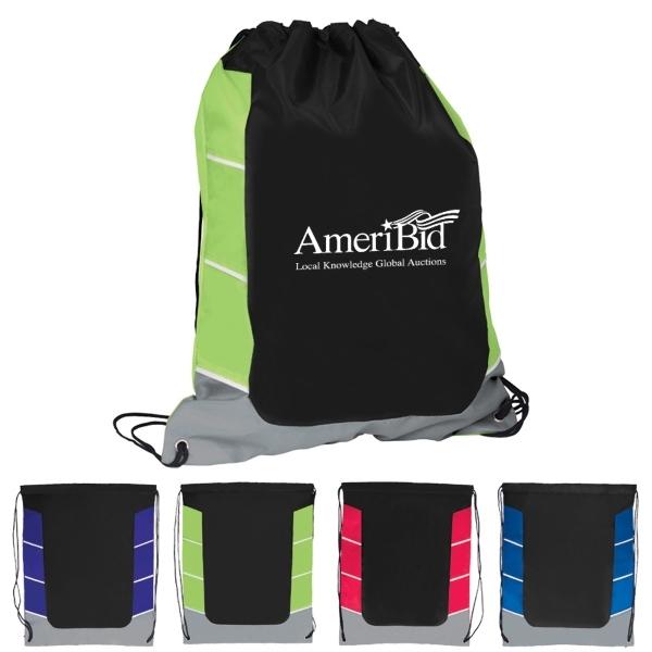 Color Block Drawstring Backpack