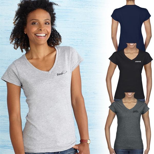 Gildan® Softstyle® Ladies V-Neck T-Shirt