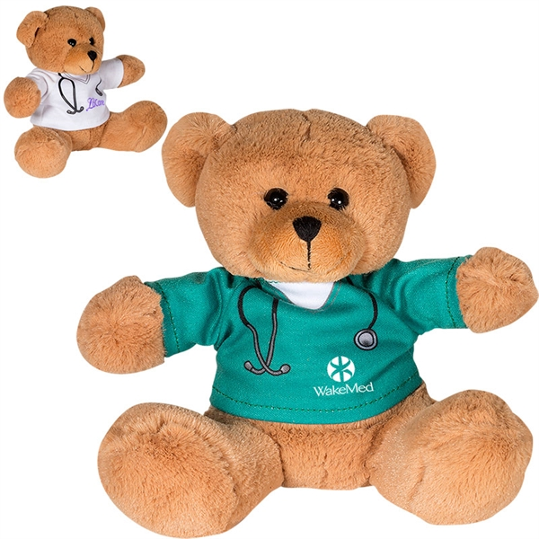 "7"" Doctor or Nurse Plush Bear"