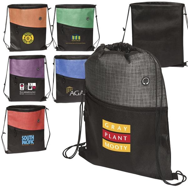 Tonal/Heathered Drawstring Backpack