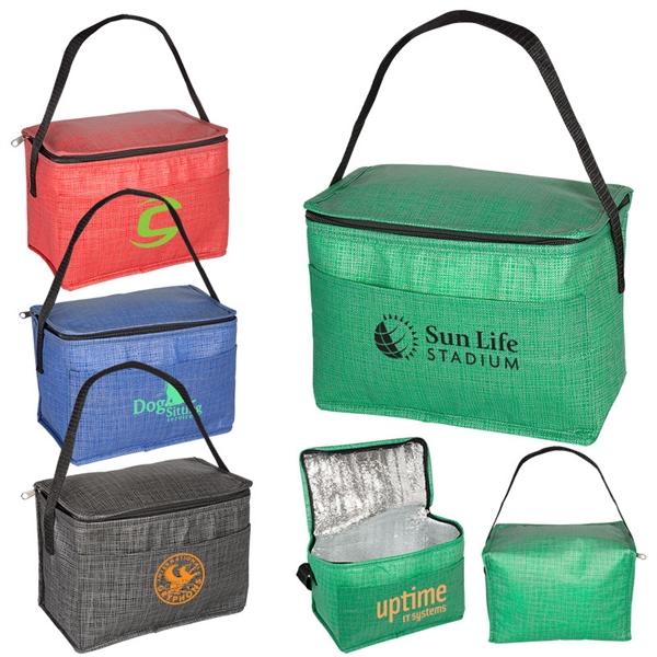 6 Pack Tonal Non-Woven Cooler Bag