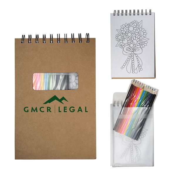 Notebook with Color Pencils