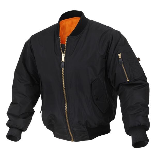 Black Enhanced MA-1 Flight Jacket