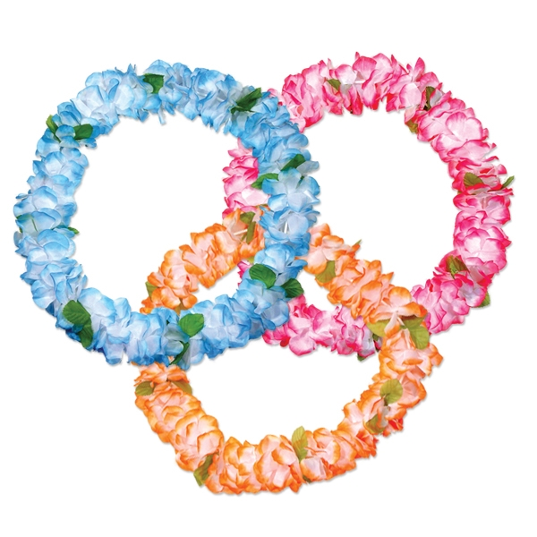 36 pastel silk flower leis mightylinksfo