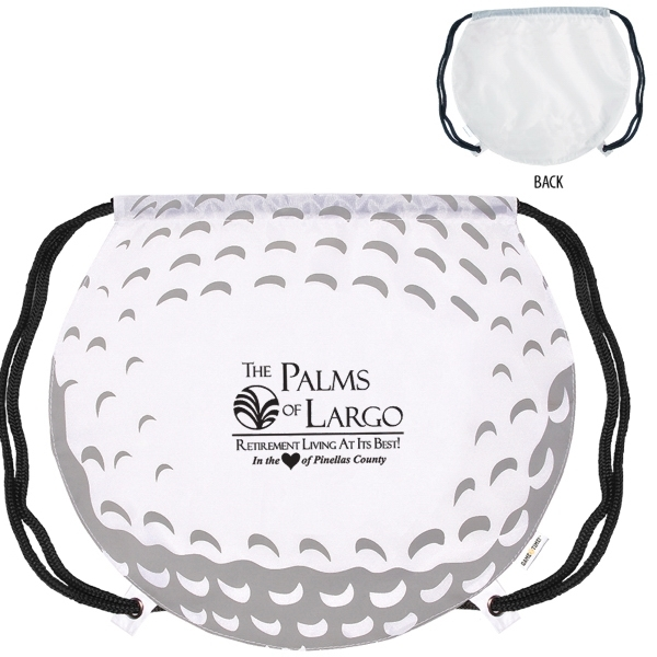 GameTime!® Golf Ball Drawstring Backpack