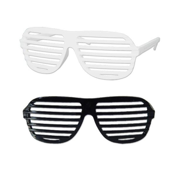 Black & White Slotted Glasses