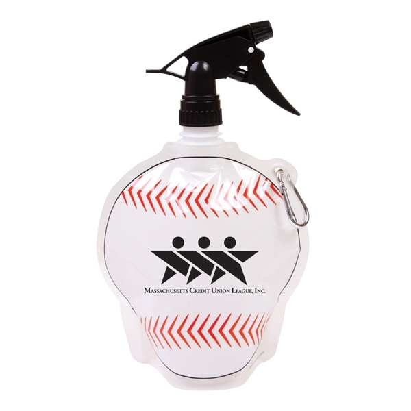 HydroPouch!™Baseball Collapsible Spray Water Bottle