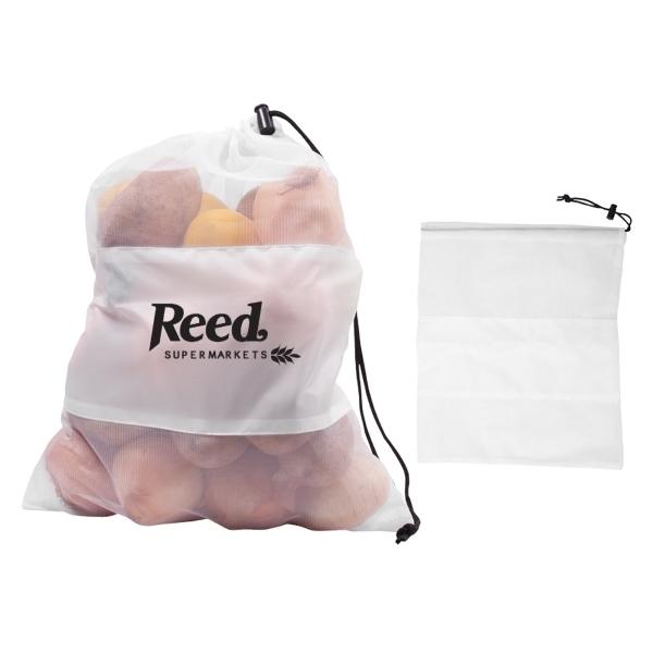 Mesh Vegetable & Produce Drawcord Bag