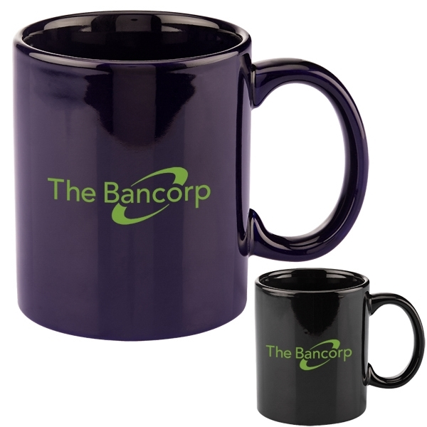 11 oz. Basic C Handle Ceramic Mug - Colors