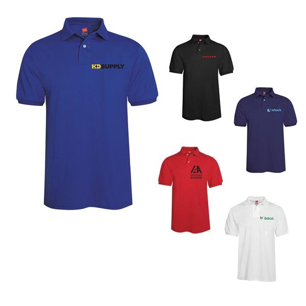 Hanes ComfortBlend®50/50 Jersey Sport Shirt Polo- Men's