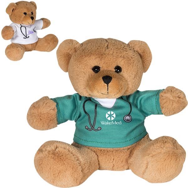 """7"""" Doctor or Nurse Plush Bear"""