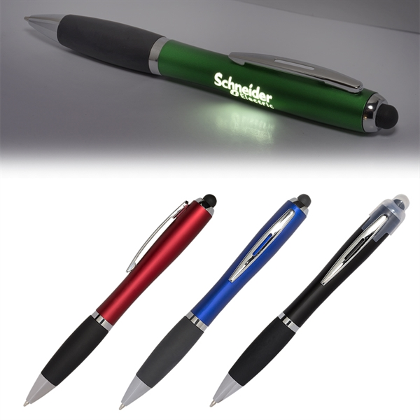 Budget LED Light-Up-Your-Logo Pen Stylus
