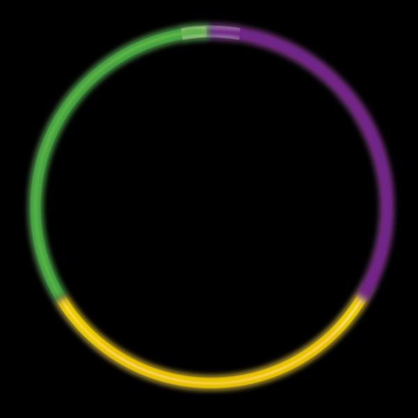 Mardi Gras Tri-Color Lite-Rope