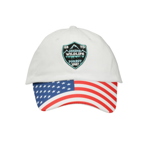 Patriotic 6 Panel Unconstructed Baseball Cap