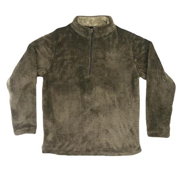 Fur Fleece Half Zip Pullover