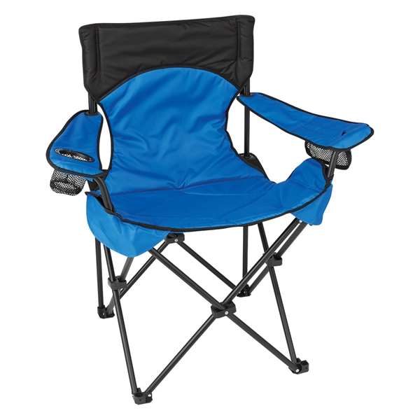Deluxe Padded Folding Chair With Carrying Bag