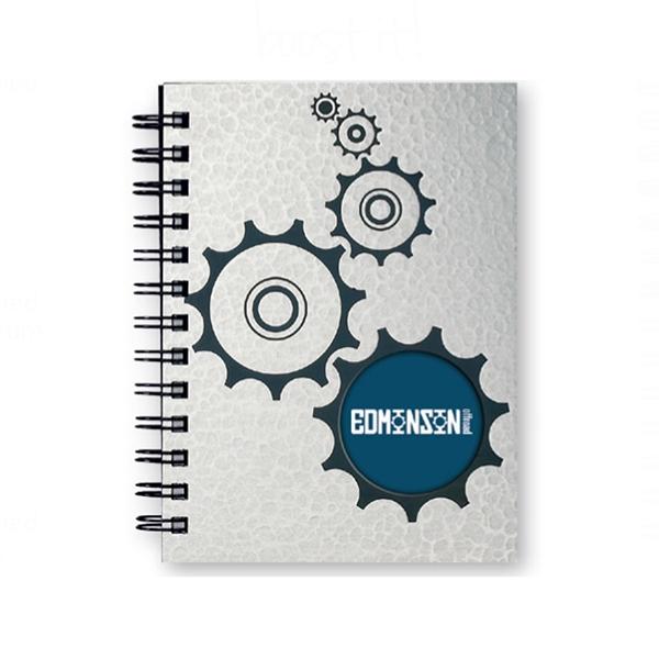 Textured, Industrial Metallic, Sports Window Pad - Note Pad