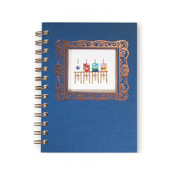 Linen Journals w/ Window Pad - Note Pad