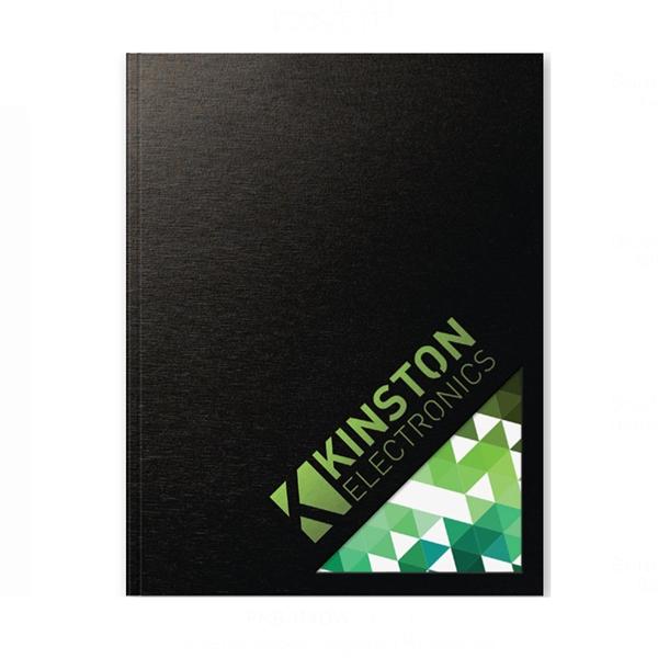 Textured, Industrial Metallic Window Flex - Large Note Book