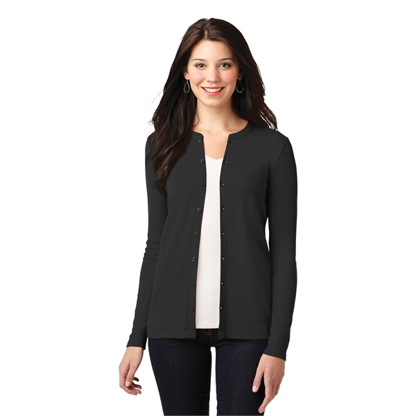 Port Authority Ladies Concept Stretch Button-Front Cardigan.