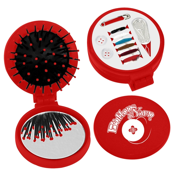3-In-1 Brush With Sewing Kit