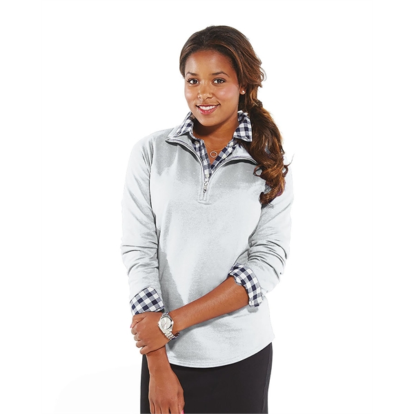 LAT Ladies' French Terry 1/4-Zip Pullover