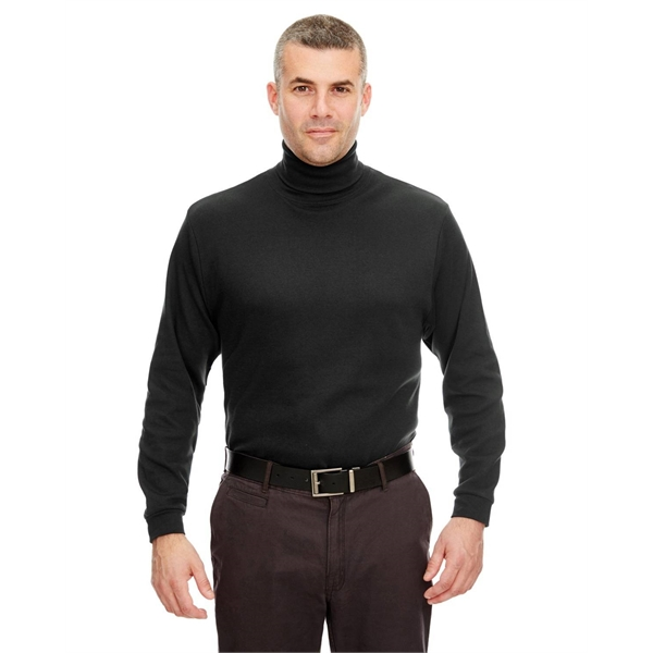 UltraClub Adult Egyptian Interlock Long-Sleeve Turtleneck