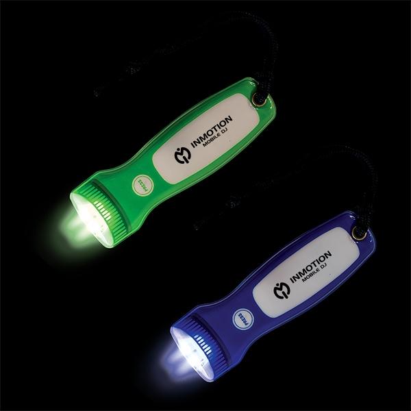 Blacklight Flat Flashlight with Wrist Strap