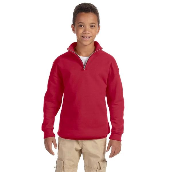 Nublend Youth NuBlend® Quarter-Zip Cadet Collar Sweatshirt