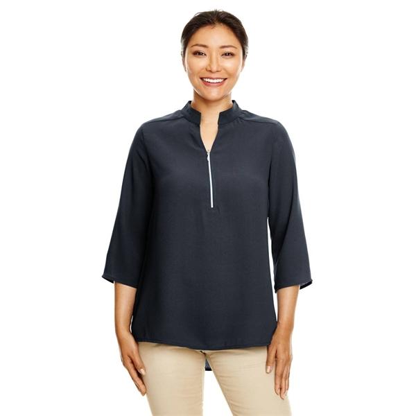 Devon & Jones Ladies' Perfect Fit™ 3/4-Sleeve Crepe Tunic
